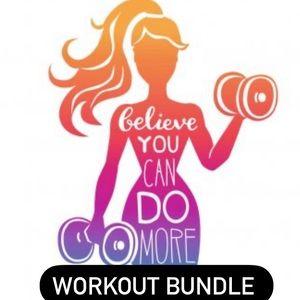 Workout bundle - 8 tops lululemon, VSX, CK